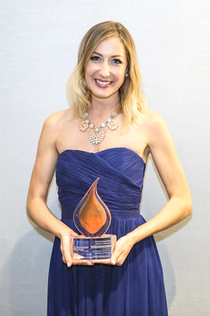 Dr. Sarah Reeg Haley Pharm.D. '15 earned the Pharmacists Mutual Distinguished Young Pharmacist Award. The Florida Pharmacy Association presented her with the award last month.